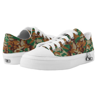 Sparkle Camouflage Printed Shoes