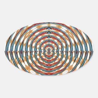 SPARKLE CHAKRA Round Circles Elegant Fashion GIFTS Oval Sticker