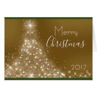 Sparkle Christmas Tree Custom Name Year Card