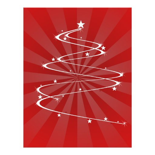Sparkle Christmas Tree Personalized Flyer