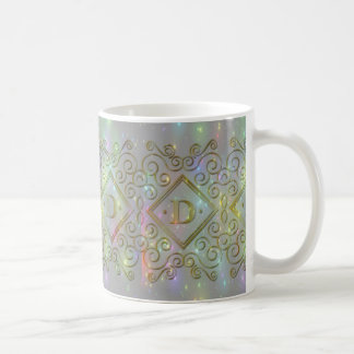 sparkle d initial coffee mug