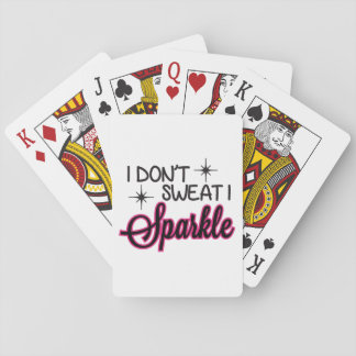 Sparkle Don't Sweat Playing Cards