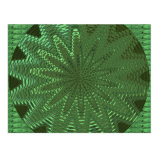 SPARKLE Emerald Green : Flower Chakra Display Deco Postcard