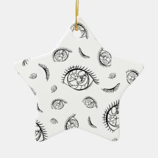 Sparkle Eyes Ceramic Ornament