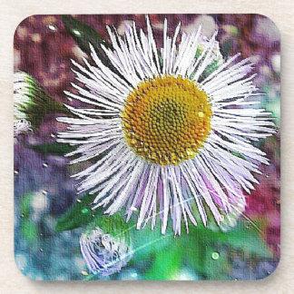 sparkle flower coasters