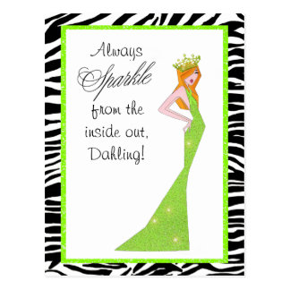 Sparkle From the Inside Out/ Diva Lime Postcards