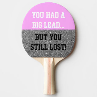 Sparkle Funny Smack Talk Ping Pong Paddle