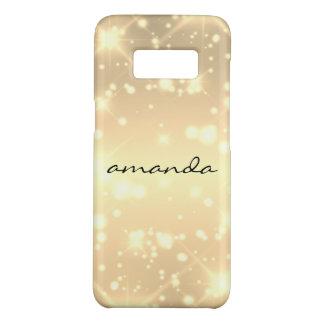 sparkle glamour monogram sprinkles Case-Mate samsung galaxy s8 case