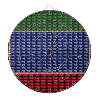 Sparkle Glitter Digital Blue Red Green Button GIFT Dartboard With Darts