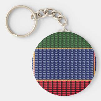 Sparkle Glitter Digital Blue Red Green Button GIFT Keychain