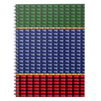 Sparkle Glitter Digital Blue Red Green Button GIFT Note Book