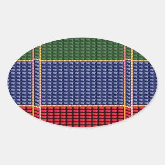 Sparkle Glitter Digital Blue Red Green Button GIFT Oval Sticker