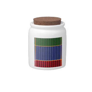 Sparkle Glitter Digital Blue Red Green Button GIFT Candy Jars