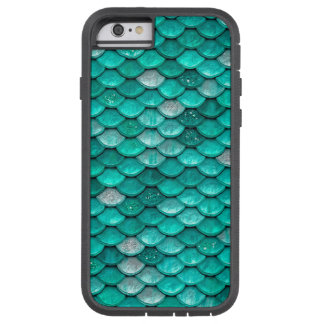 Sparkle Glitter Green Aqua Mermaid Scales Tough Xtreme iPhone 6 Case