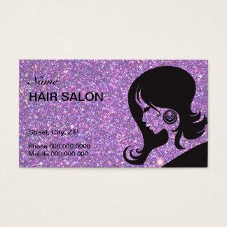 Sparkle & Glitter Hair Salon Business Card