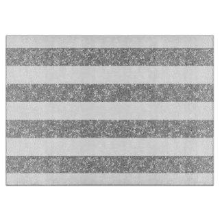 Sparkle Glitter Look Stripes Cutting Board