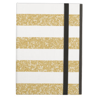 Sparkle Glitter Look Stripes Powis iPad Case
