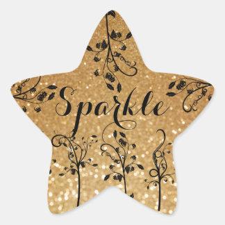 Sparkle glitter print Star Sticker