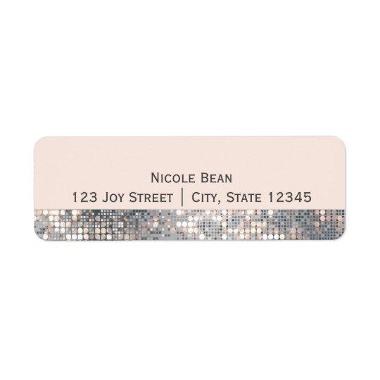 Sparkle Glitter Sequins Glamour Address Labels