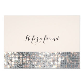 Sparkle Glitter Sequins Glamour Glam Referral Card
