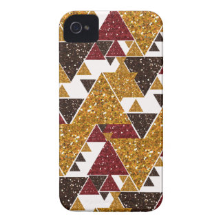 Sparkle Gold Printed Tribal Pattern iPhone Case