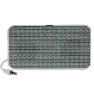 Sparkle GREY Gray Water Green Pattern Graphic iPod Speaker