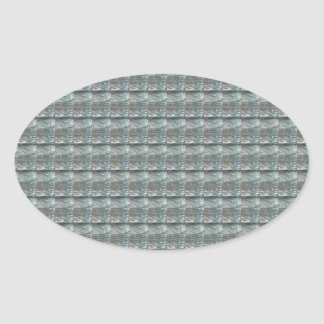 Sparkle GREY Gray Water Green Pattern Graphic Oval Stickers