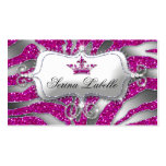 Sparkle Jewellery Zebra Crown Hot Pink 232 Pack Of Standard Business Cards