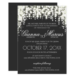 Sparkle Lights Gala Wedding 13 Cm X 18 Cm Invitation Card