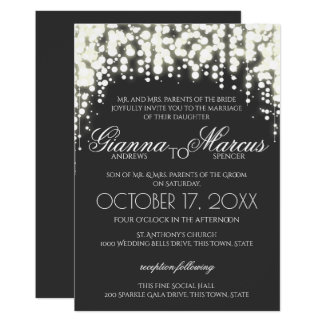 Sparkle Lights Gala Wedding Card