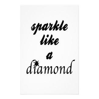 Sparkle Like A Diamond Stationery