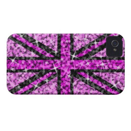 Sparkle Look UK Pink Black BlackBerry Bold case iPhone 4 Case