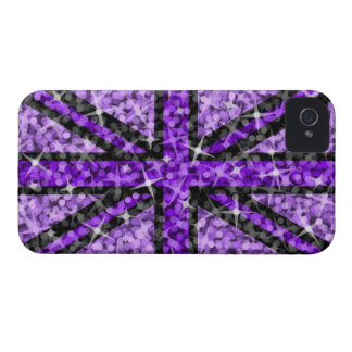 Sparkle Look UK Purple Black BlackBerry Bold iPhone 4 Cases