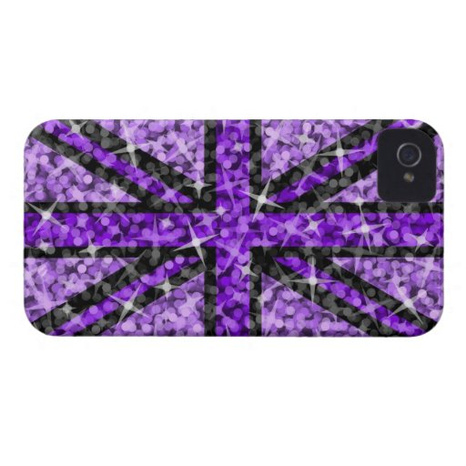 Sparkle Look UK Purple Black BlackBerry Bold Blackberry Case