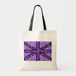 Sparkle Look UK Purple Black budget tote bag