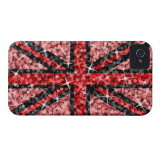 Sparkle Look UK Red Black BlackBerry Bold Case-Mate iPhone 4 Case