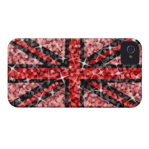 Sparkle Look UK Red Black BlackBerry Curve Case-Mate Blackberry Case