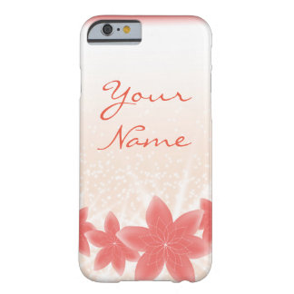 Sparkle Peach Shiny flowers iPhone Barely There iPhone 6 Case