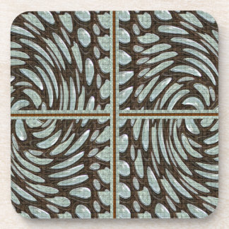 Sparkle Pearl Stone Pattern Art on Family Gifts Drink Coaster