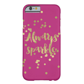 Sparkle Pink Gold Confetti Barely There iPhone 6 Case