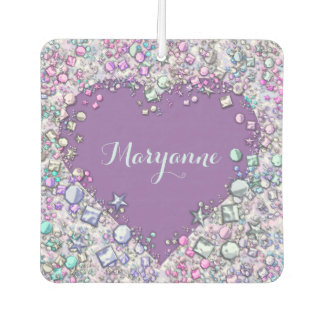 Sparkle precious gems personalised car air freshener