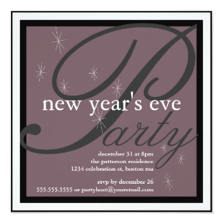 Sparkle Pretty New Years Eve Party Invitation