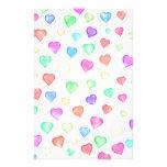 Sparkle Rainbow Hearts Pattern Customised Stationery