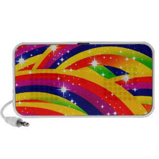 sparkle rainbows travel speakers