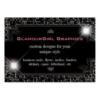 Sparkle & Shine Black Tile : Business Card