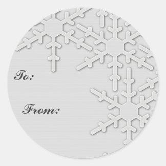 Sparkle Snowflake Design Round Sticker