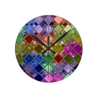 Sparkle Tiles Mosaic Art Round Clock