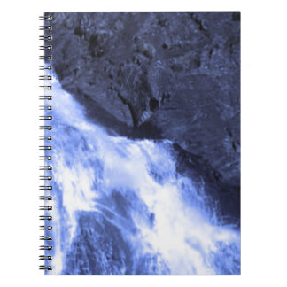 Sparkle white jet flow water from Holy River Ganga Note Books