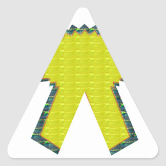 Sparkle Yellow Gold RIBBON Award NVN283 Guest ID Triangle Sticker
