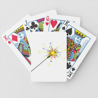 Sparkler Bicycle Playing Cards